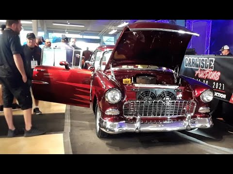 2020 Fall Carlisle Auction Video 8  Two Camaros and a '55 ; Stock, Strip and Street