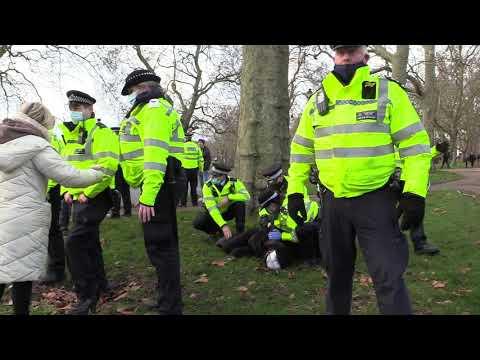 Girl Arrest Hyde Park, then Rugby tackled