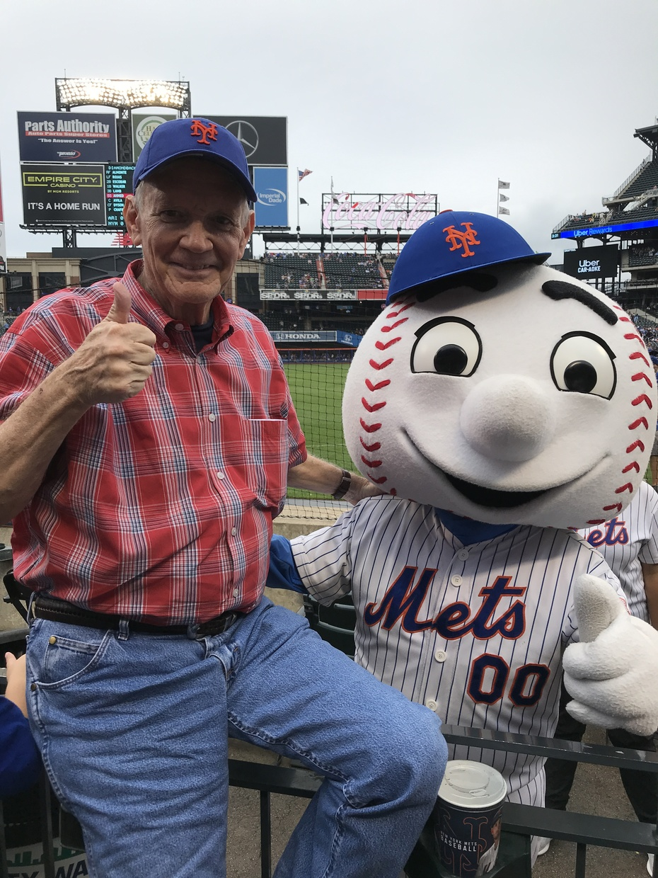 Field level with Mr Met