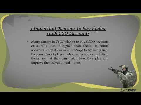 Importance of Purchasing Higher Rank CSGO Accounts