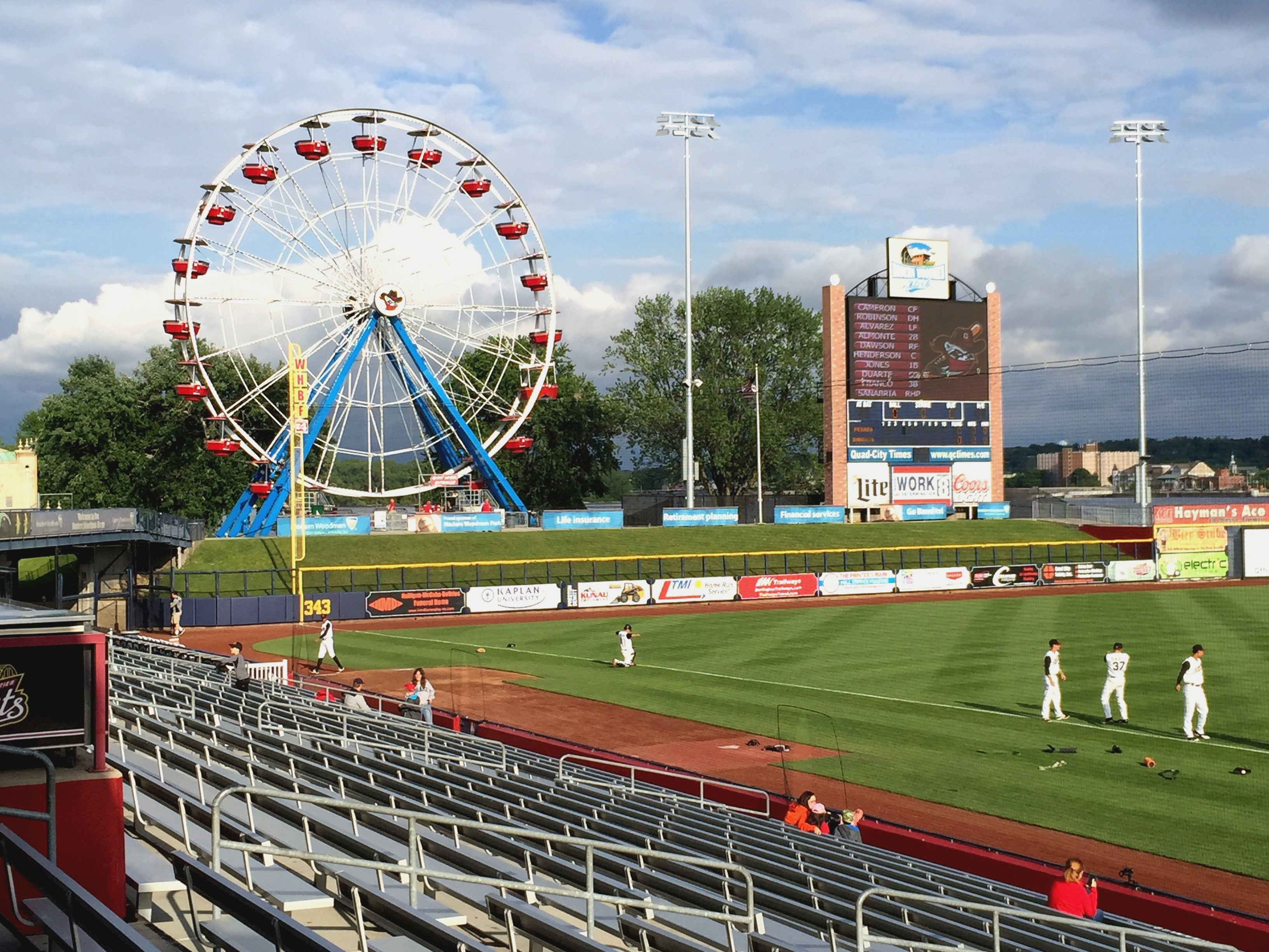 Modern Woodman Park Ferris Wheel Left Field