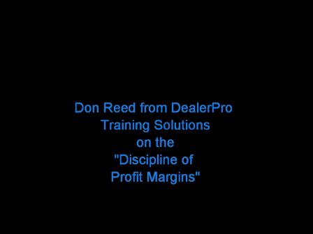 """Profit Margins Are A Matter Of Discipline"""