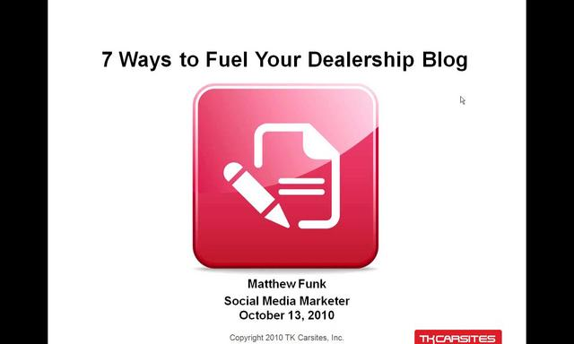 7 Tips to Feed Your Dealership Blog