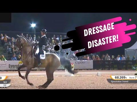Dressage Fail: Grand Prix Dressage Freestyle Gone Wrong