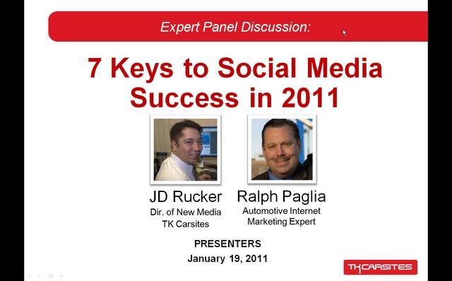 7 Keys to Social Media Success in 2011