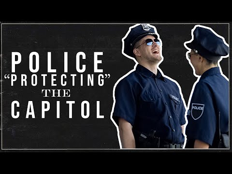 """Police """"Protecting"""" The Capitol (Comedy)"""