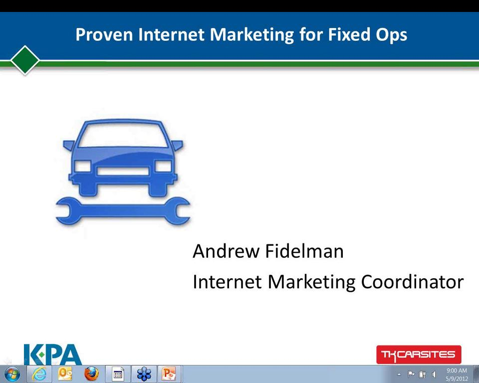 Proven Internet Marketing for Fixed Ops