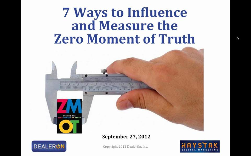 7 Ways to Influence and Measure The Zero Moment of Truth