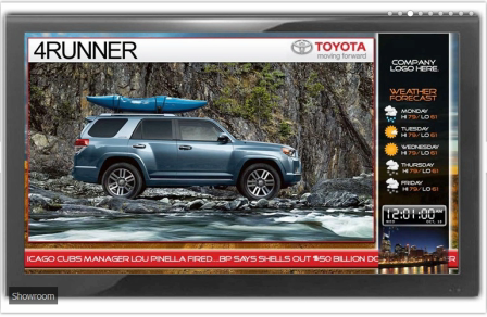 Live TV and Digital Media Marketing Screens for the Dealer