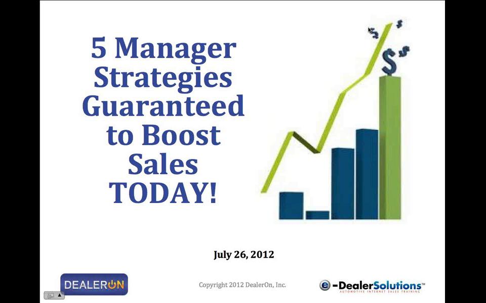 5 Manager Strategies Guaranteed to Boost Sales TODAY!