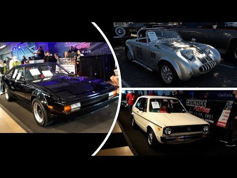 2020 Fall Carlisle Auction Video 10  Bug Eye Sprite, Rabbit Cabriolet, Supra and Mercedes Limo