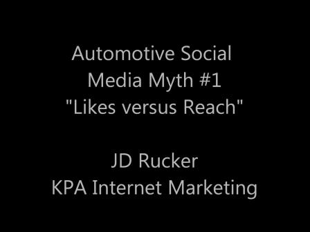 Reach versus Likes on Facebook - Automotive Social Media Myths