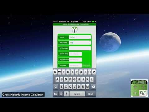 VIDEO Review of Gross Monthly Income Calculator App