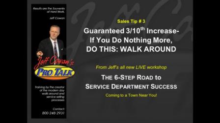 Sales Tip #3 Guaranteed 3 10ths Increase