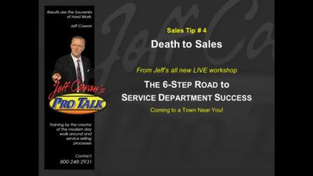 Sales Tip #4 Death to Sales