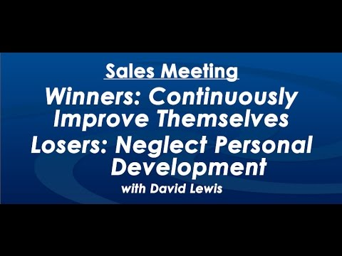 Winners Continuously Improve Themselves - by David Lewis