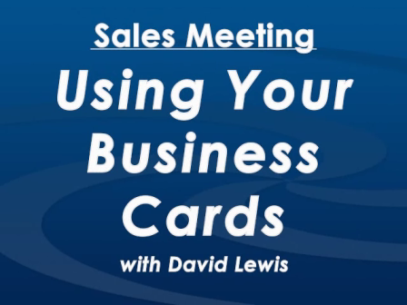 Sales Meeting with David Lewis -