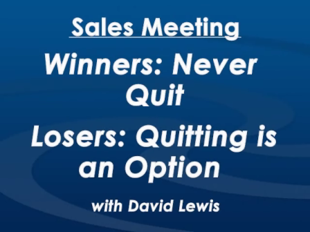 A Winning Sales Meeting with David Lewis