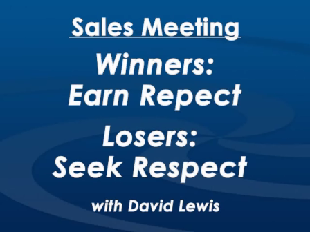 Monday Morning Sales Meeting with David Lewis - December 14th, 2015