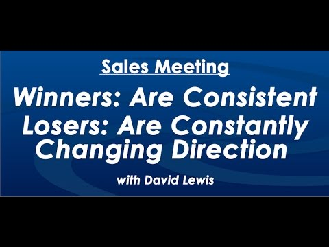 Winners are Consistent - by David Lewis