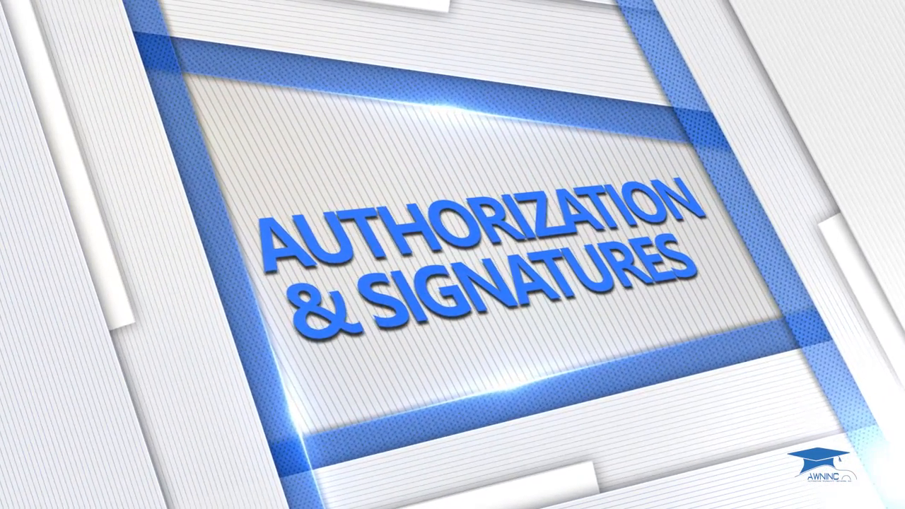 Authorization and Signatures