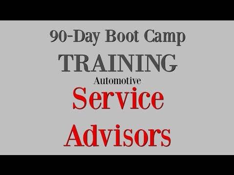 Online Boot Camp Training for Automotive SERVICE ADVISORS