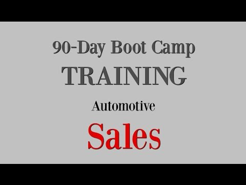 Online Boot Camp Training for Automotive SALES CONSULTANTS