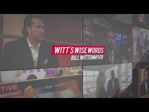 "Witt's Wise Words - Are You a ""Me Guy"" or a ""We Guy""?"