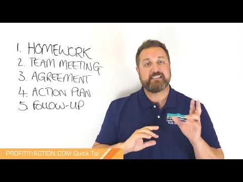 Profit By Action Quick Tip: Business Planning 5  - Follow up