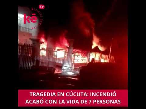 INCENDIO ESTRUCTURAL DE TRES VIVIENDAS EN EL BARRIO LA CAPELLANA DEJÓ 7 MUERTOS Y 4 HERIDOS - CUCUTA, COLOMBIA