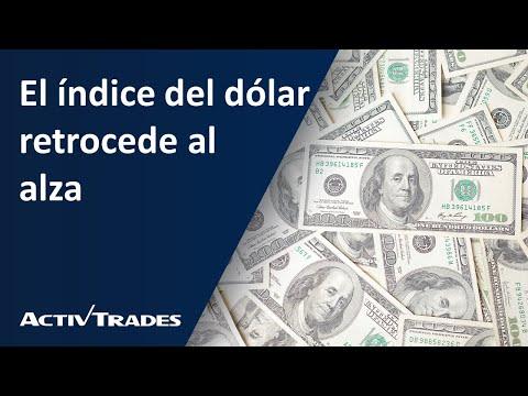 El índice del dólar retrocede al alza