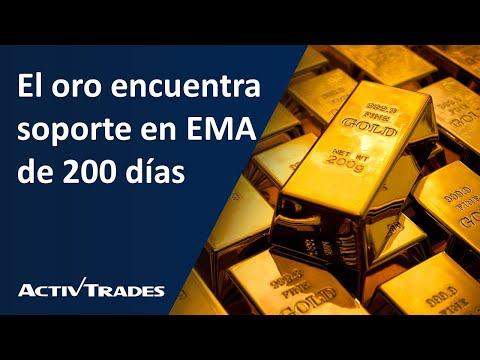 El oro encuentra soporte en EMA de 200 días