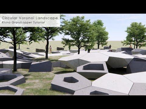 Circular Voronoi Landscape Rhino Grasshopper Tutorial
