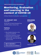 Monitoring, Evaluation and Learning in the context of COVID-19, A Blue Marble Evaluation perspective