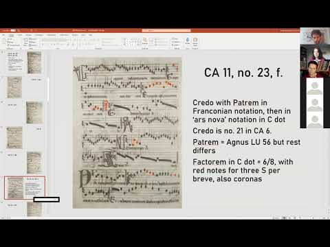1. Barbara Haggh-Huglo: Cantus fractus in CA 6 and 11 and the Council of Basel