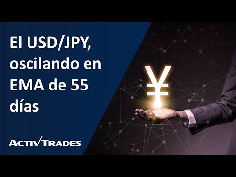El USD/JPY, oscilando en EMA de 55 días