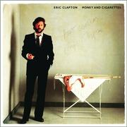 Eric Clapton Autographed 1983 Money & Cigarettes LP (Original UK release)