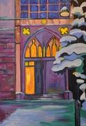 Agneskirche im Winter
