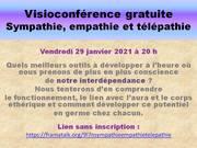 Visioconférence gratuite : la Sympathie, l'Empathie, la Télépathie