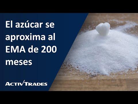 El azúcar se aproxima al EMA de 200 meses