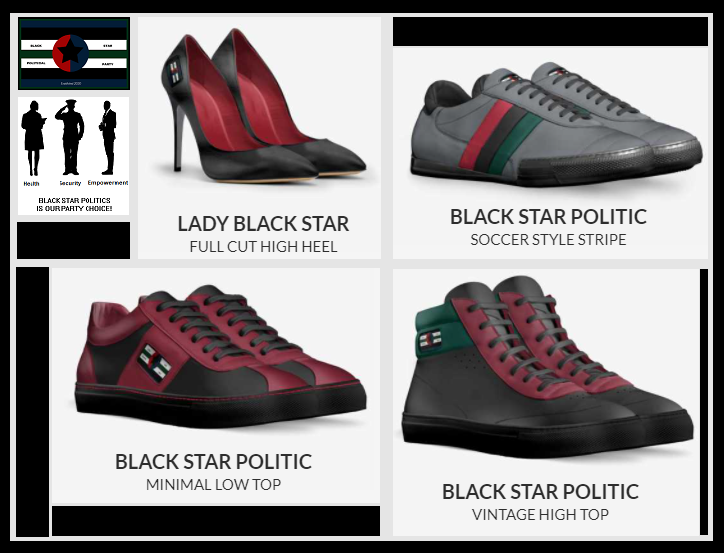 Black Star Politic Shoe Collection
