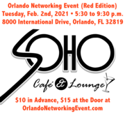 Orlando Networking Event (Red Edition) at Soho Cafe and Lounge
