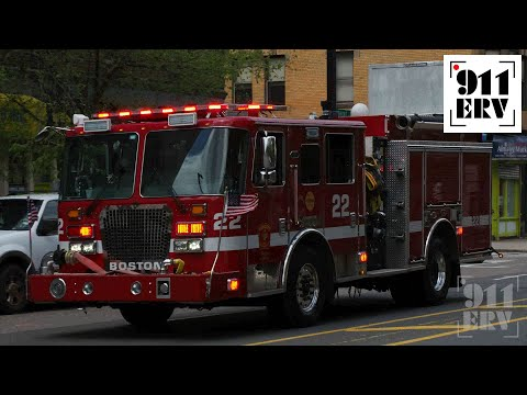 Boston Fire Engine 22 Responding