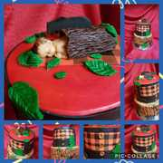 Lumberjack Baby Shower Cake