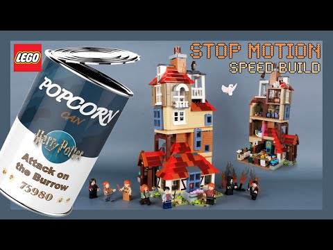 LEGO Harry Potter Attack on the Burrow 75980 Stop Motion Speed Build Review