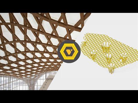 How to make a Parametric Hexagonal Ceiling - GH Tutorial