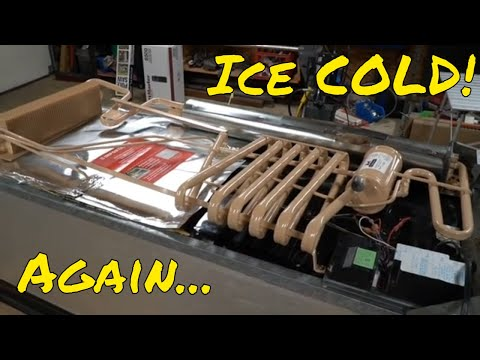 Replacing the cooling unit on your RV / Camper refrigerator