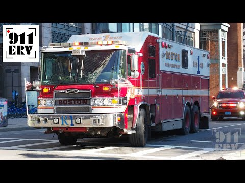 Boston Fire Rescue 1 Spare and C6 Responding