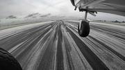 Landing 701 at Carrasco International Airport, Uruguay