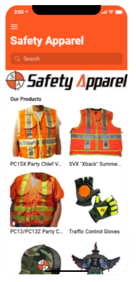 New App for our Friends at Safety Apparel